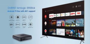 Super Quality SoC Amlogic S905X4 with support for Android 10 codec and AV1