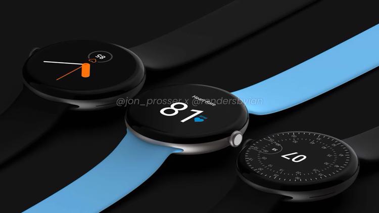 Smartwatch Google Pixel Watch flaunts on renders