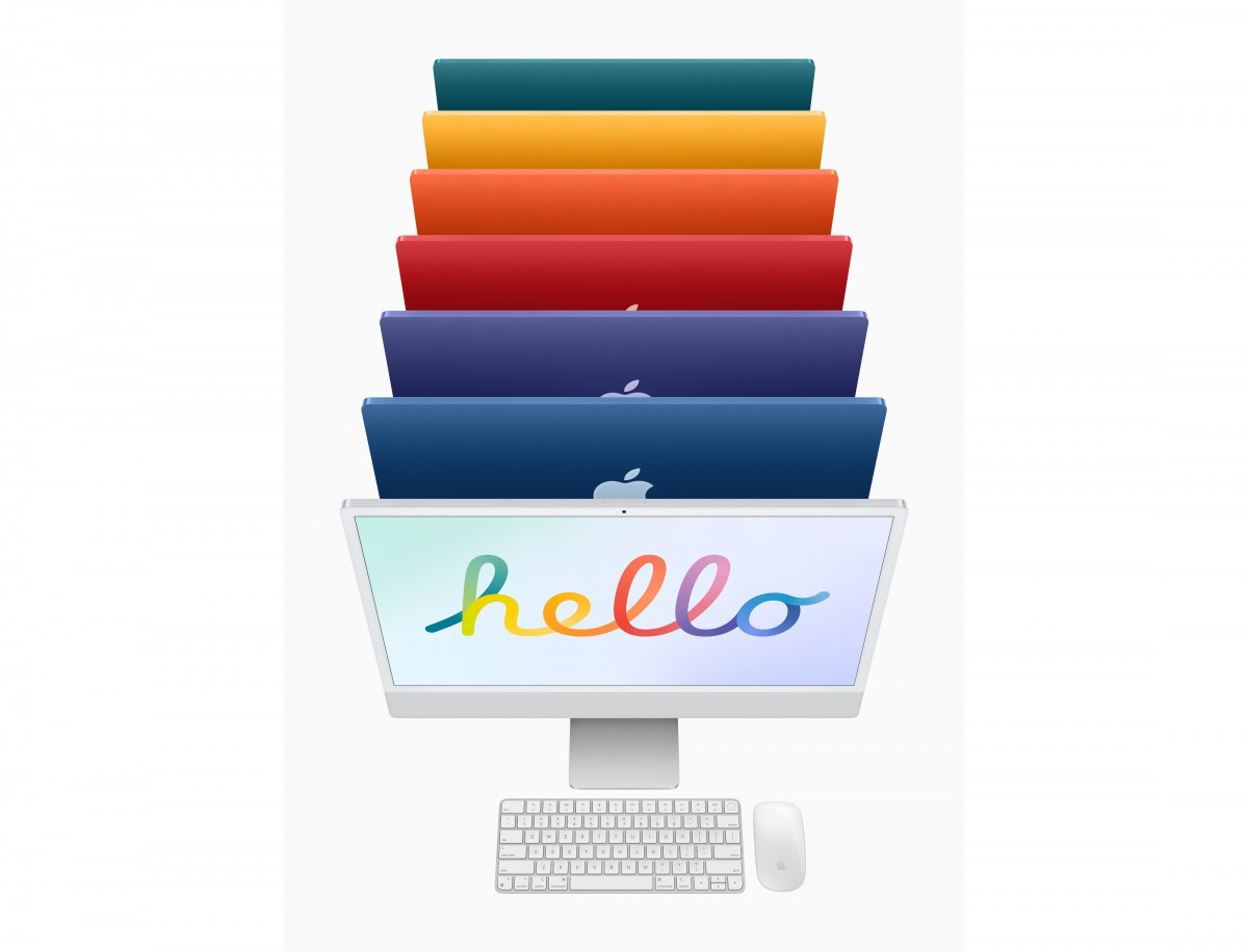 Apple's new iMac M1 comes in seven different colours